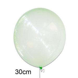 crystal clear ballon groen, 30cm