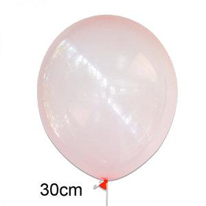 crystal clear ballon koraal (roze), 30cm