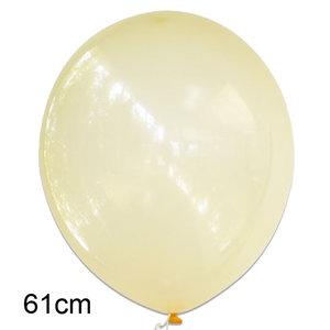 crystal clear ballon geel, 61cm
