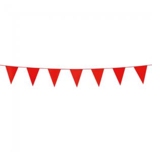 Mini vlaggenlijn Rood, 3 meter