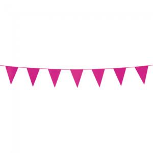 Mini vlaggenlijn Pink, 3 meter