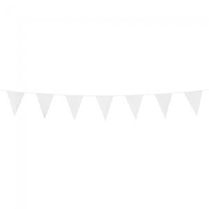 Mini vlaggenlijn Wit, 3 meter
