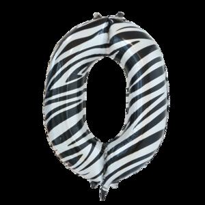 folie cijfer 0 zebra 86cm