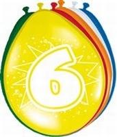 6 jaar, ballonnen, 8 stuks