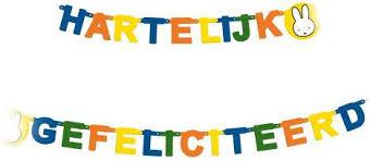 nijntje letterslinger hartelijk gefeliciteerd