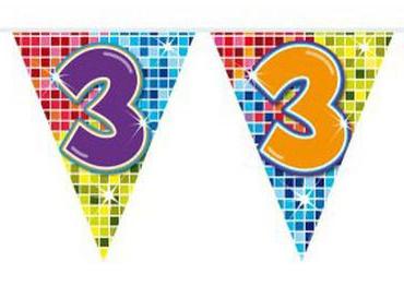 Vlaggenlijn 3 jaar Birthday Blocks