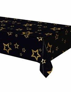 VIP tafelkleed zwart met sterren