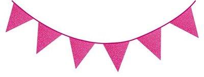 Roze glitter slinger