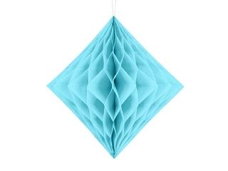 Honeycomb diamant lichtblauw 30 cm