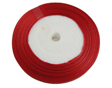 satijn lint rood 6 mm