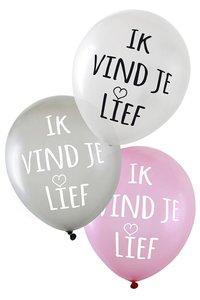 Ik vind je Lief ballonnen, 6 stuks