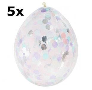iridescent confetti ballonnen