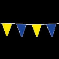 Vlaggenlijn blauw-geel