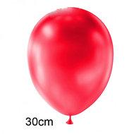 rood metallic ballon 30 cm